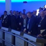 Il Presidente Squinzi in visita alla mostra