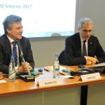 Il Presidente ANIE Giuliano Busetto introduce l'incontro con RFi